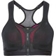 Odlo Double High Sports Bra Women black/beetroot purple